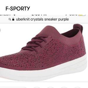 Fitflop Winter Berry Wine Crystal Uberknit Sneakers